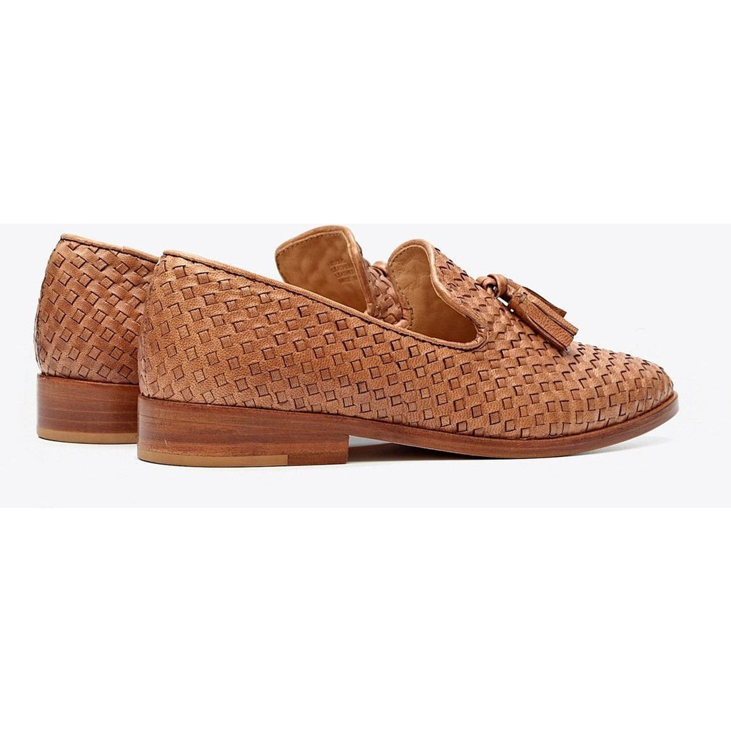 Frida Smoking Loafer (Woven Brown)