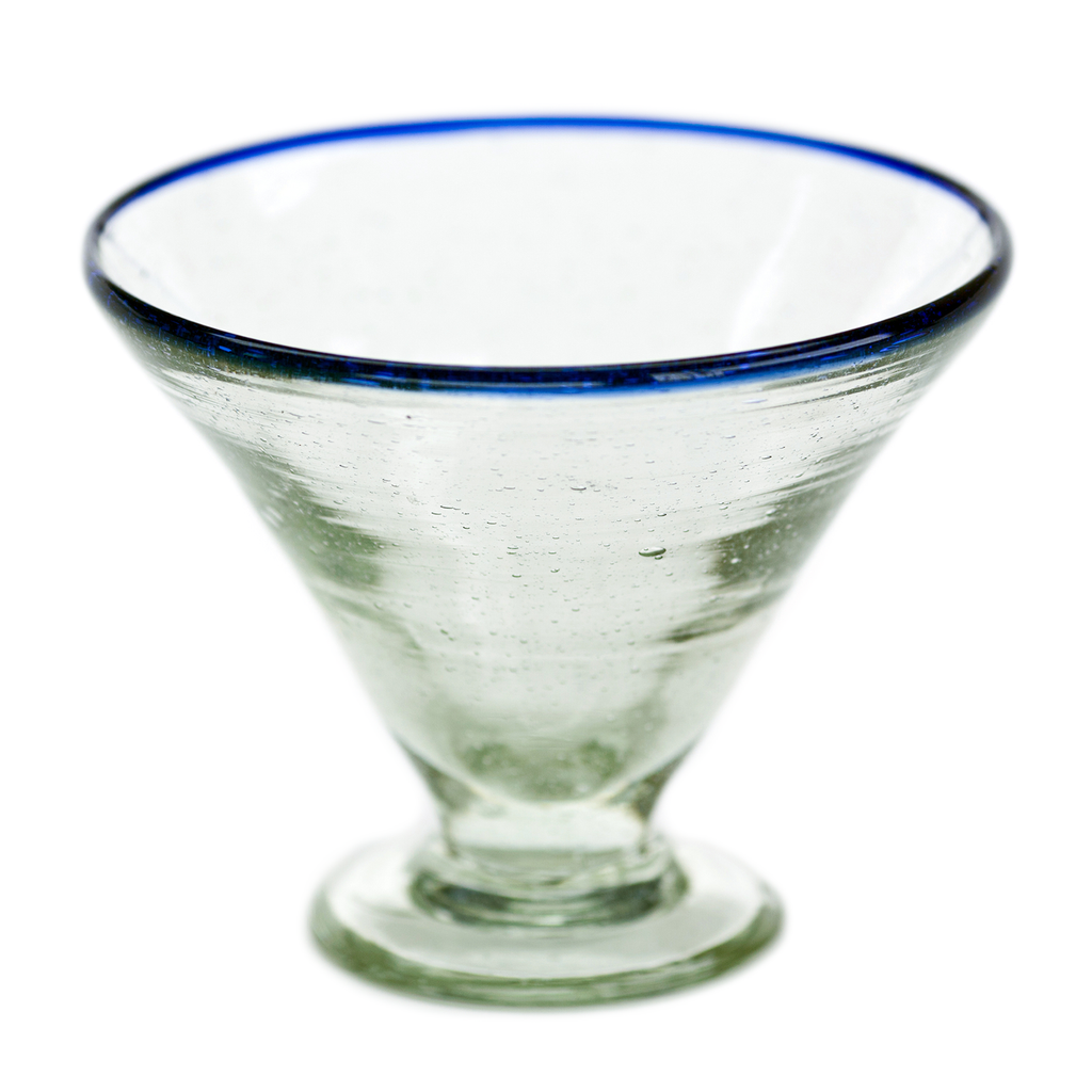 Glass Margarita - Blue Rim