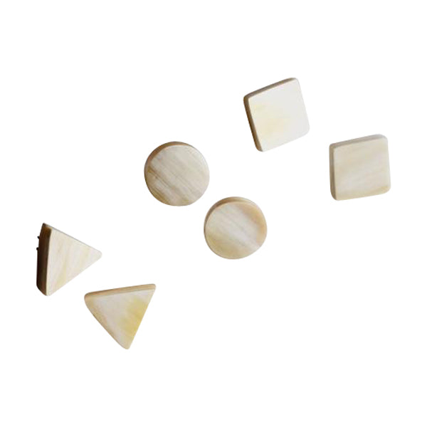 Cream-Colored Stud Earrings