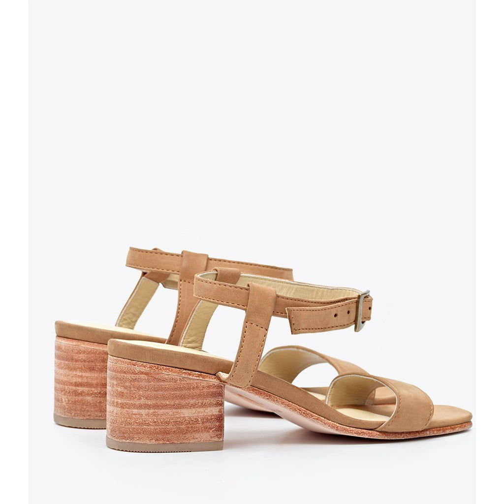 Lucia Block Heel Sandal (Sand) FINAL SALE