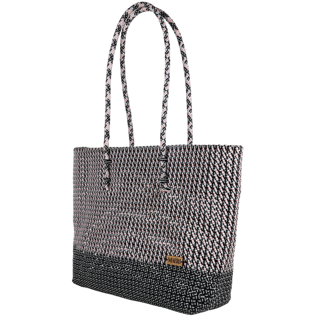 Two Paneled Disco Shoulder Tote