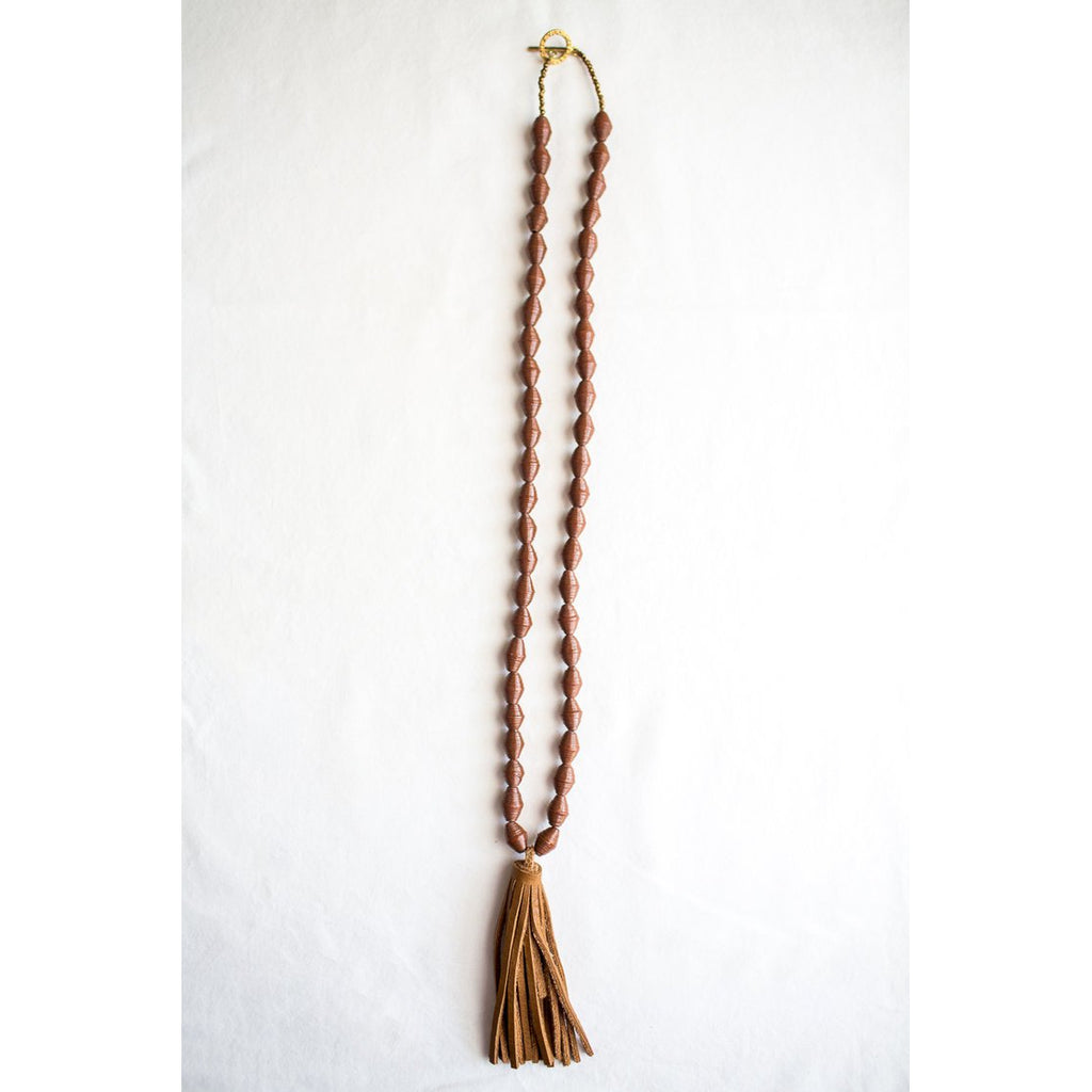 The Chai Tassel Necklace (Brown)