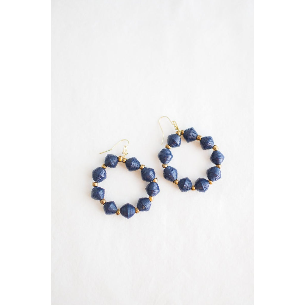 Hoop Earrings (Navy)