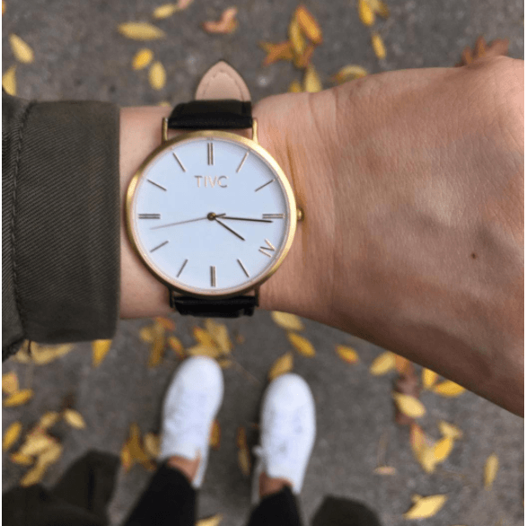 Gold | Black Vegan Watch