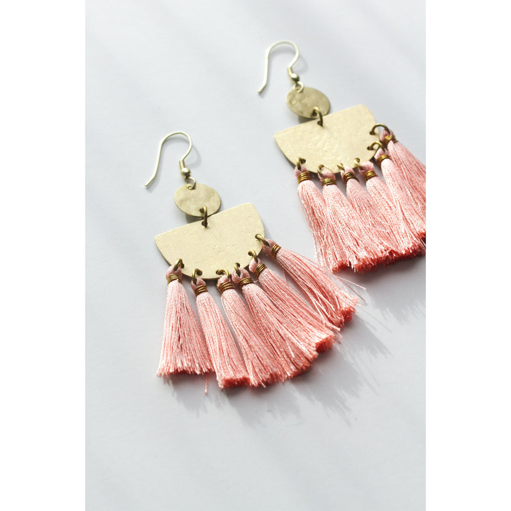 Tasseling Blush Earrings