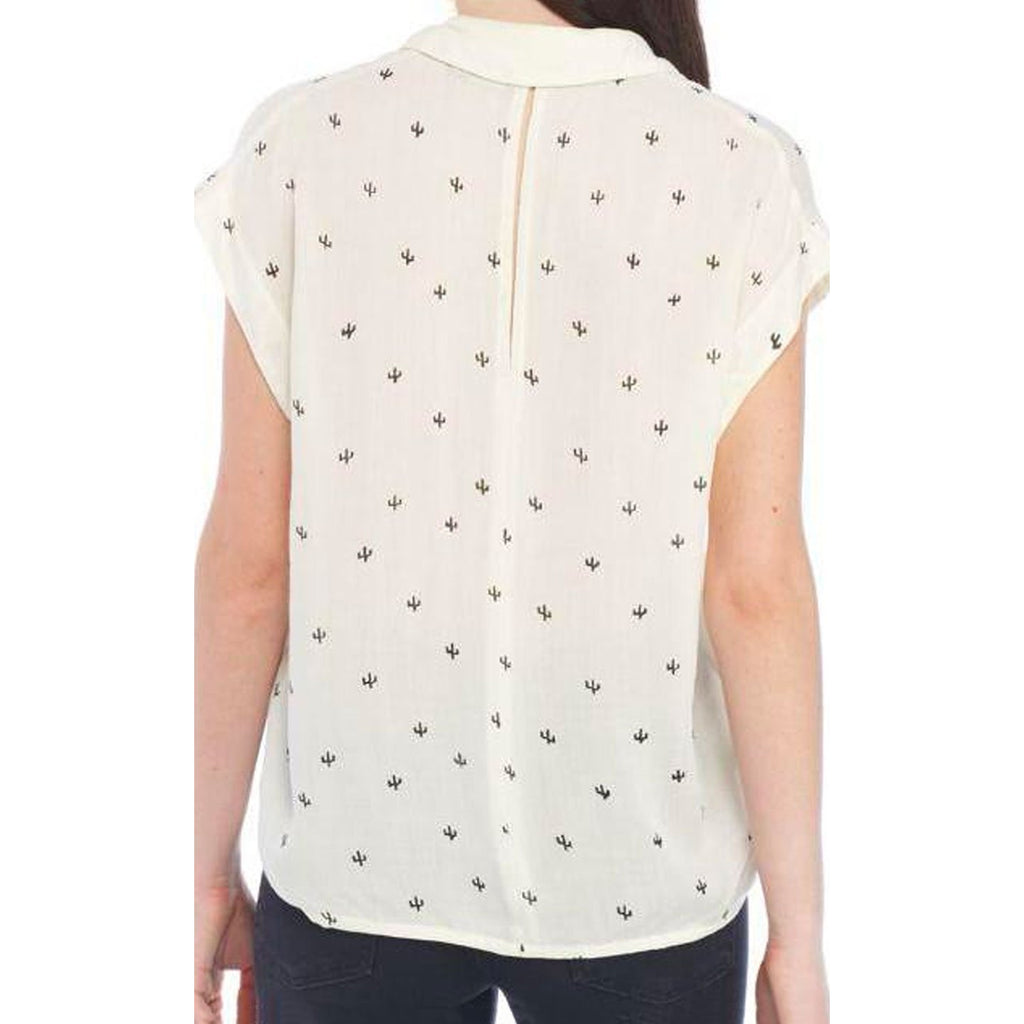 Baby Cacti Blouse in Ivory + Black
