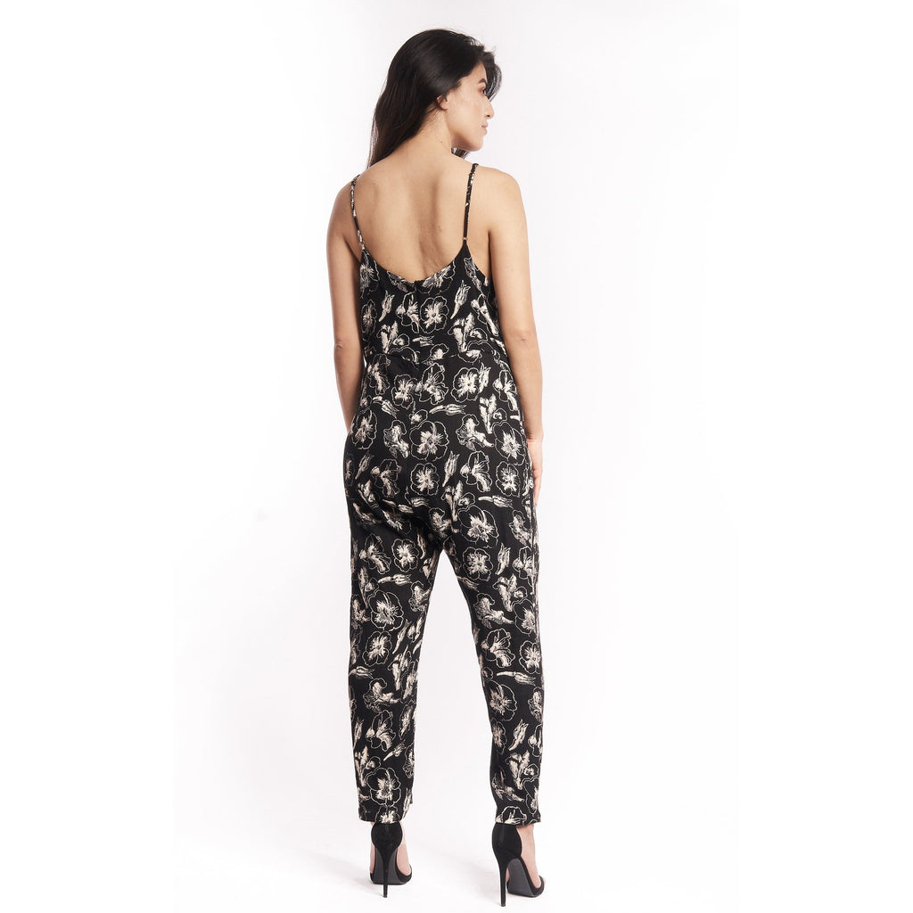 Hibiscus Flower Strappy Jumpsuit