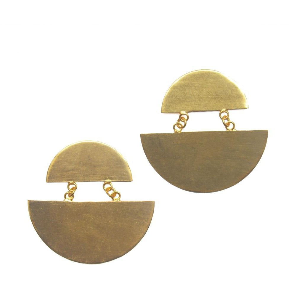 Crescent Link Earrings