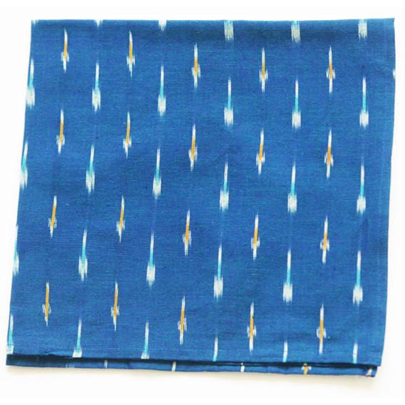 Blue Cloth Table Napkin Handwoven Ikat Dash Set of 4
