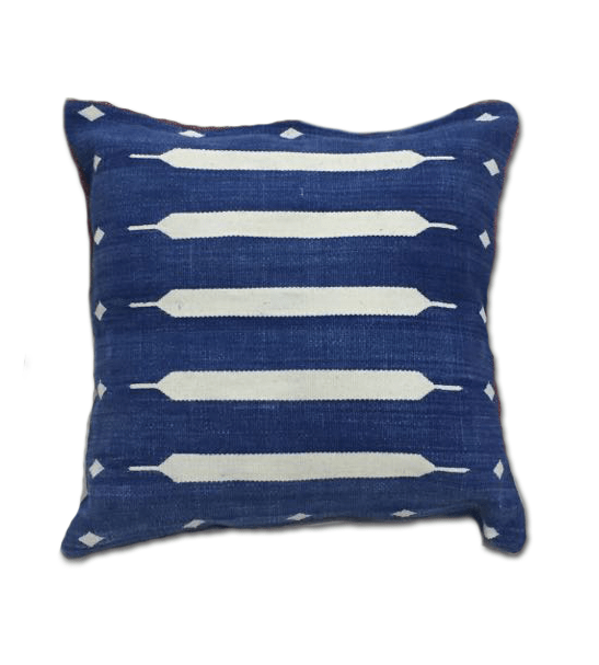 Indigo Dhurrie Pillow