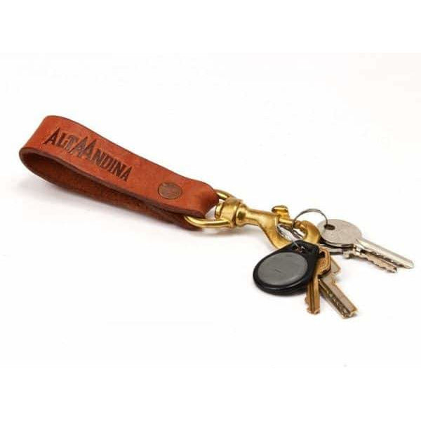 Leather Valet Keychain w/ Bronze Swivel Clip