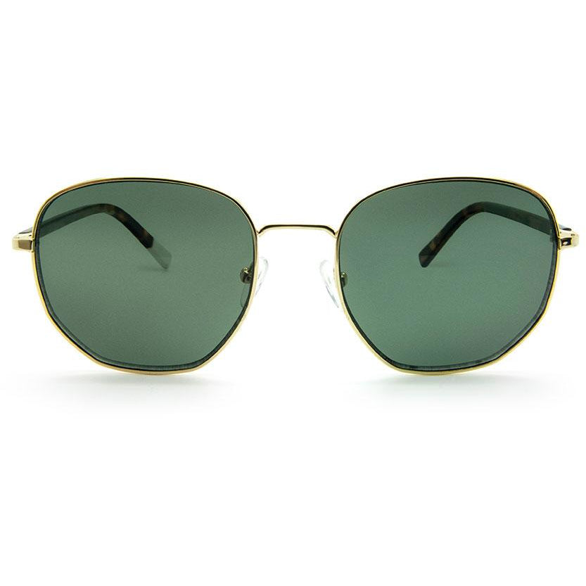 Rudo Gold Polished Metal Sunglasses