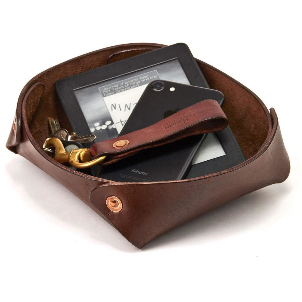 Large Leather Valet Tray / Catchall