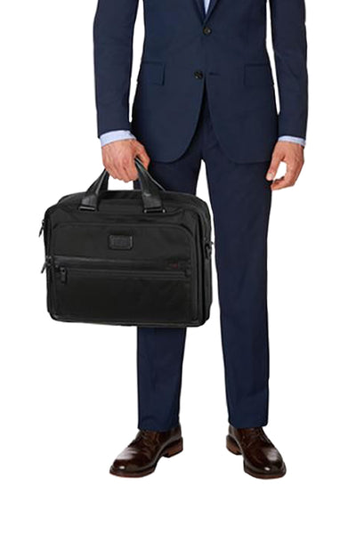 Tumi Alpha 2 Organizer Brief Black