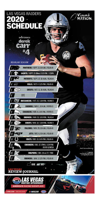 2020 Raiders Schedule