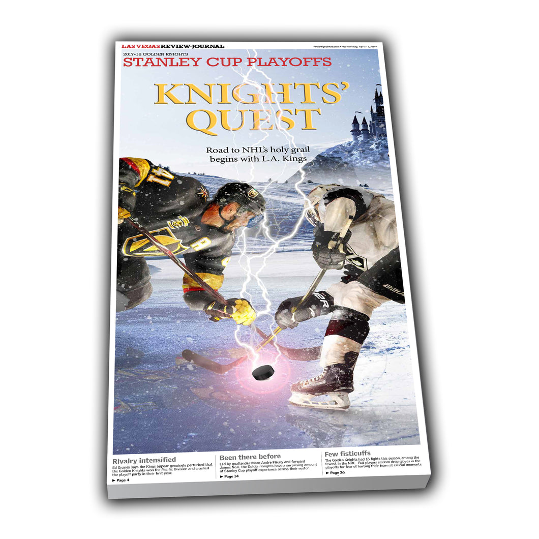Golden Knights vs Kings Special Section Collectible