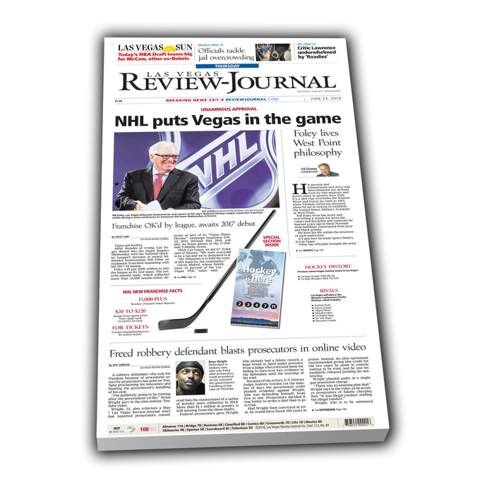 Review-Journal Announce Golden Knights