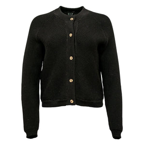 Alpaca Knit Bomber Black