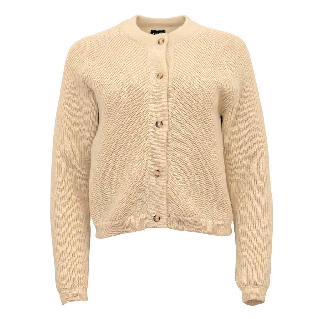 Alpaca Knit Bomber Natural