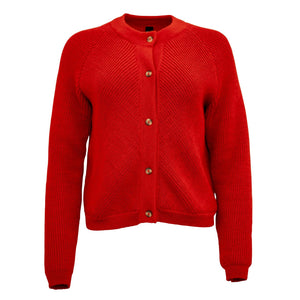 Alpaca Knit Bomber Red