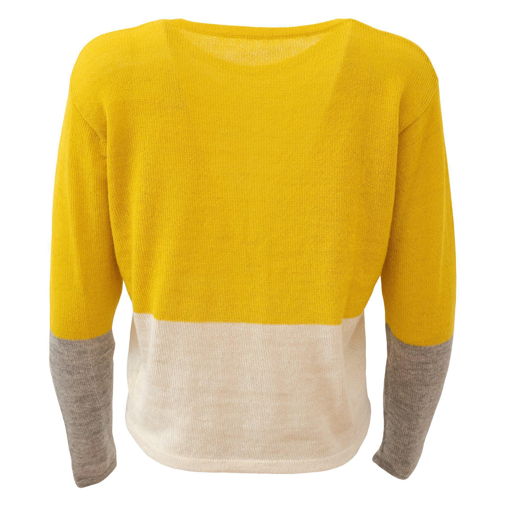 Alpaca Knit Yellow White Grey