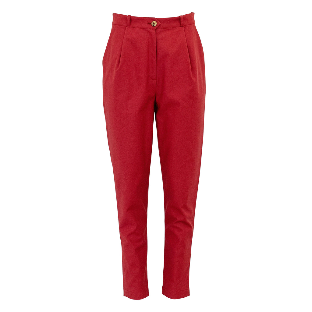 August Pants Brick Red