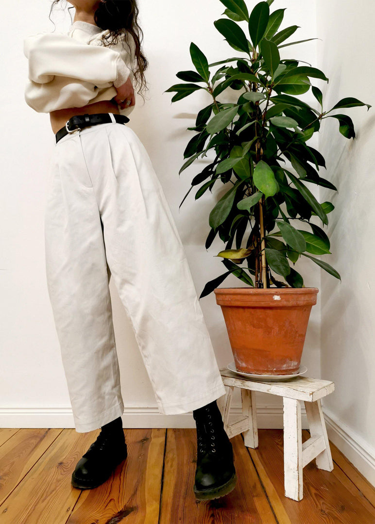 Charlotte Culottes Cream - Corvera Vargas berlin conscious fashion brand. Charlotte Culottes Cream for women