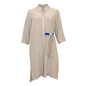 Genf Dress - Light Grey with Blue Band