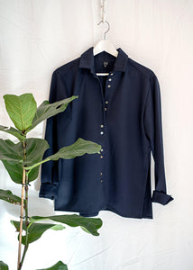 Jerome Shirt Navy - Corvera Vargas berlin conscious fashion brand. Jerome Shirt Navy for women.