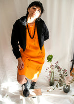 Moss Dress Orange - Corvera Vargas berlin conscious fashion brand. Moss Dress Orange for women.