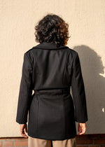 NL Coat Black Wool - Corvera Vargas berlin conscious fashion brand. NL Coat Black Wool for women.