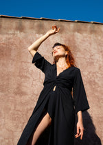 Sandra Dress Black - Corvera Vargas berlin conscious fashion brand. Sandra Dress Black for women.