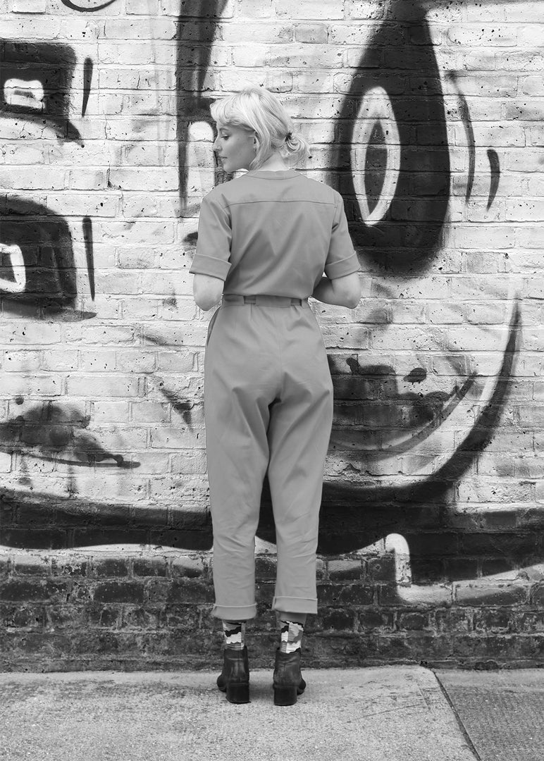 Tanger Jumpsuit Grey - Corvera Vargas berlin conscious fashion brand. Tanger Jumpsuit Grey for women.