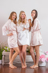 Blush Pink Bridesmaid Robe with Lace