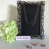 Rose Gold Plated Black Cz Bar W/ Infinity Sterling Silver Pendant Necklace - 20% Off