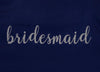 Navy Bridal Party Robes with Silver Glitter