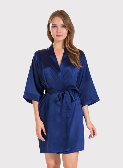 BULK - Minimum 25PC Order only - Solid Bridesmaid Satin Robe