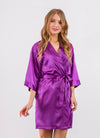Purple Bridesmaid Satin Robe- Sale