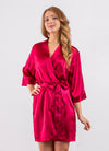 Red Bridesmaid Satin Robe - Sale
