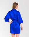Royal Blue Bridesmaid Satin Robe - Sale