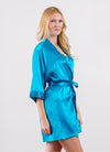 Teal Bridesmaid Satin Robe - Sale