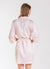 Blush Bridesmaid Satin Robe with White Lace Back Yoke