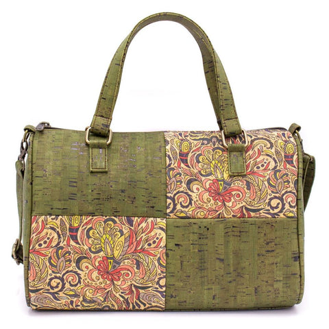 Green Duffle Handbag