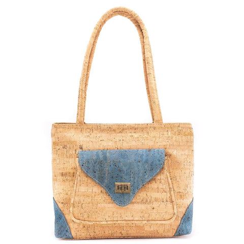 Rustic Turquoise Cork bag