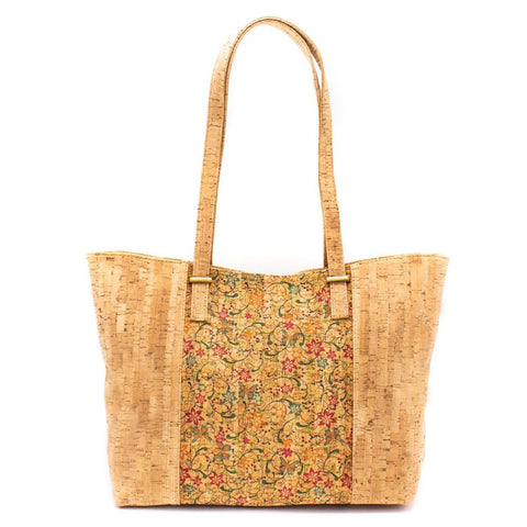 Large Eco~shoulder bag - flowery pattern
