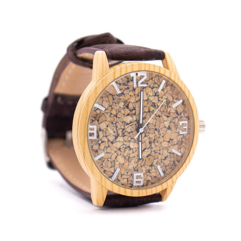 Natural Cork watch Brown strap