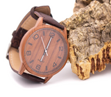 Tan Eco watch with brown strap