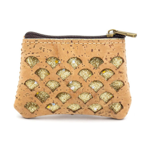 Cork Purse with golden sparks