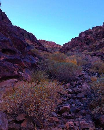 Colorful geology for hikers above Telegraph Pass in the Phoenix South Mountain Park