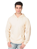 21052ORG Unisex Organic-Hooded Pullover Sweatshirt - Natural
